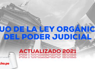 TUO de la Ley Orgánica del Poder Judicial