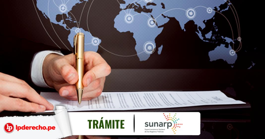 Tramite Sunarp poder otorgado en el extranjero con logo de LP