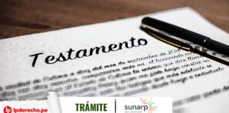 Tramite Sunarp sucesión intestada con logo de LP