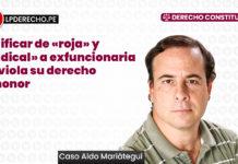 Calificar de «roja» y «radical» a funcionaria no viola su derecho al honor (caso Aldo Mariategui)
