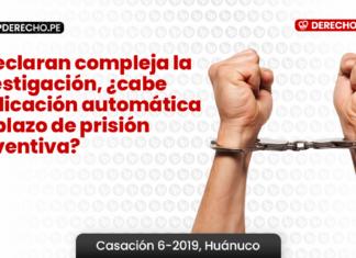 Si declaran compleja la investigación, ¿cabe duplicación automática del plazo de prisión preventiva?
