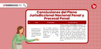 Conclusiones Pleno Jurisdiccional Nacional Penal y Procesal Penal 2021 con logo de LP