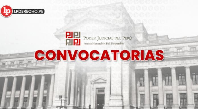 Convocatorias Poder Judicial - LP