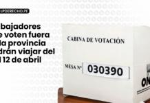 Trabajadores que voten fuera de la provincia podrán viajar del 9 al 12 de abril