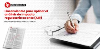 Lineamientos para aplicar el análisis de impacto regulatorio ex ante (AIR)