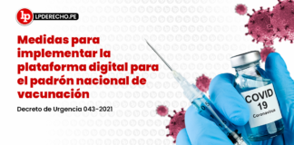 Medidas para implementar la plataforma digital para el padrón nacional de vacunación