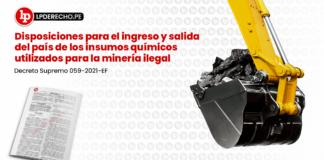Disposiciones para el ingreso y salida del país de los insumos químicos utilizados para la minería ilegal