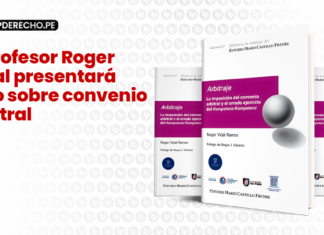 El profesor Roger Vidal presentara libro sobre convenio arbitral - LP