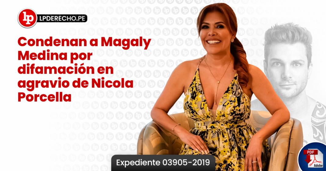 Condenan a Magaly Medina por difamación en agravio de Nicola Porcella