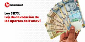 Ley 31173: Ley de devolución de los aportes del Fonavi