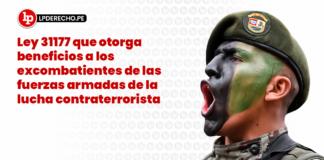 Ley 31177: ley que otorga beneficios a los excombatientes de las fuerzas armadas de la lucha contraterrorista