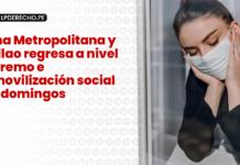Lima Metropolitana y Callao regresa a nivel extremo e inmovilización social los domingos