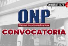 ONP convocatoria con logo de LP