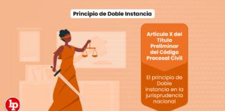 Principio de Doble Instancia: Artículo X del Título Preliminar del Código Procesal Civil