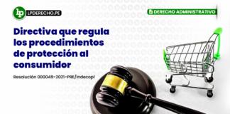 Directiva que regula los procedimientos de protección al consumidor
