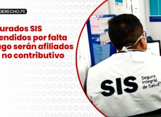Asegurados SIS suspendidos por falta de pago serán afiliados al SIS no contributivo