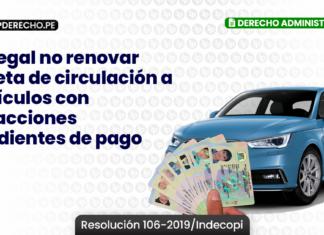Es ilegal no renovar tarjeta de circulación a vehículos con infracciones pendientes de pago