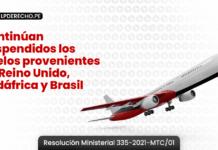 Continúan suspendidos los vuelos provenientes de Reino Unido, Sudáfrica y Brasil