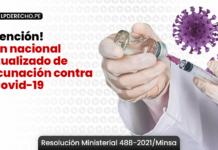 Plan nacional actualizado de vacunación contra el covid-19