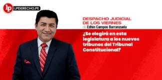 ¿Se elegirá en esta legislatura a los nuevos tribunos del Tribunal Constitucional?