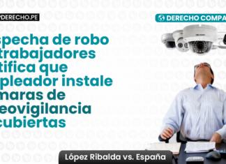 Sospecha de robo de trabajadores justifica empleador instale camaras de vigilancia encubiertas- derecho comparado-LP