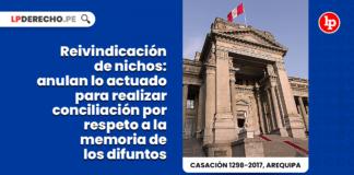 reivindicacion nichos anulan actuado conciliacion respeto memoria difuntos