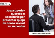 Juez superior querella a secretaria por presentar queja de acoso sexual en su contra
