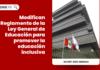 Modifican Reglamento de la Ley General de Educación para promover la educación inclusiva