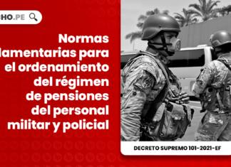 Normas reglamentarias para el ordenamiento del régimen de pensiones del personal militar y policial