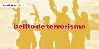 Delito de terrorismo con logo de LP