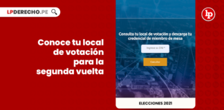 #Elecciones2021: conoce tu local de votación para la segunda vuelta