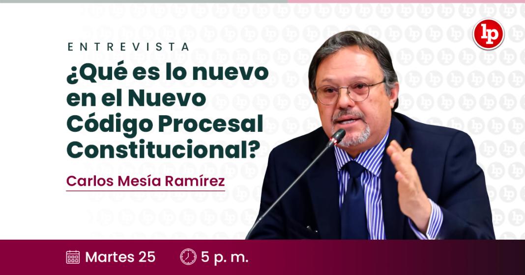 ¿Qué es lo nuevo en el nuevo Código Procesal Constitucional? Entrevista a Carlos Mesía Ramírez