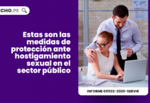 Estas son las medidas de proteccion ante hostigamiento sexual en el sector publico-laboral-LP
