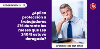 ¿Aplica protección a trabajadores 276 durante los meses que Ley 24041 estuvo derogada?