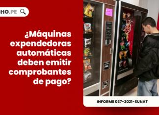 ¿Máquinas expendedoras automáticas deben emitir comprobantes de pago?