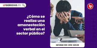 ¿Cómo se realiza una amonestación verbal en el sector público?