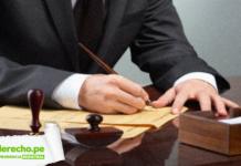 Jurisprudencia registral abogado escribiendo con logo de LP