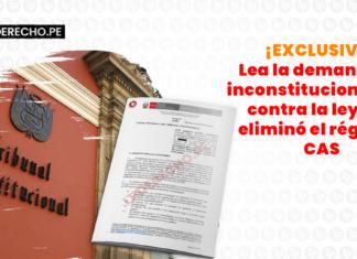 ¡EXCLUSIVO! Lea la demanda de inconstitucionalidad contra la ley que eliminó el régimen CAS con logo de LP