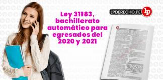 Ley 31183 con logo de LP