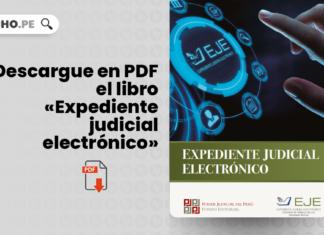 libro «Expediente judicial electrónico» con logo de LP