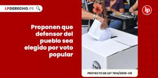 Proponen que defensor del pueblo sea elegido por voto popular