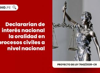 Declararían de interés nacional la oralidad en procesos civiles a nivel nacional