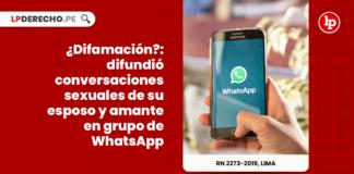 ¿Difamación?: difundió conversaciones sexuales de su esposo y amante en grupo de WhatsApp
