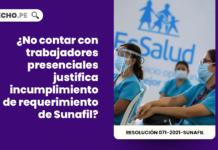 ¿No contar con trabajadores presenciales justifica incumplimiento de requerimiento de Sunafil?