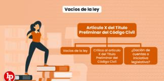 Vacíos de la ley (artículo X del Título Preliminar del Código Civil)