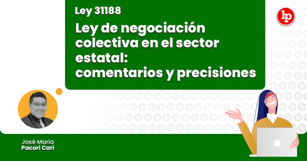ey negociacion colectiva sector estatal comentarios precisiones LP