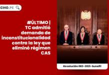 regimen-cas-demanda-inconstitucionalidad-ley-31131-tribunal-constitucional-LP
