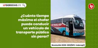 tiempo-maximo-conducir-vehiculo-transporte-publico-parar-resolucion-0330-2021-spc-indecopi-LP