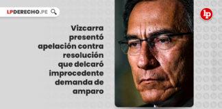 vizcarra-apelacion-resolucion-delcaro-improcedente-demanda-amparo-LP
