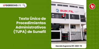 Texto Único de Procedimientos Administrativos (TUPA) de Sunafil